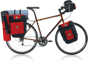 Axiom GrandTour Series modular panniers on bicycle